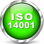 Vector illustration of green set iso certification icons